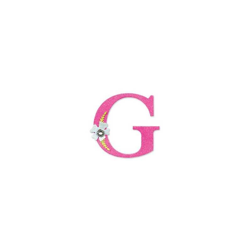 """Sizzix Bigz Alphabet Uppercase Die - Sassy Serif Letter """"G"""" 654722"""