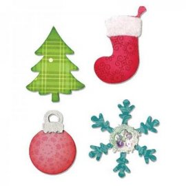 Sizzix Bigz Die - Christmas Tree, Ornament, Snow flake & Stocking  A10599