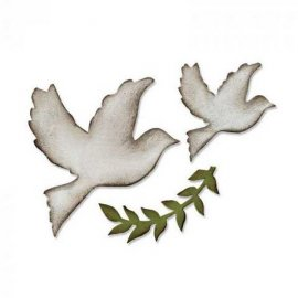 Sizzix Bigz Die - Enchanted Doves 661607