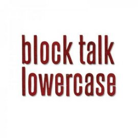 Sizzix Bigz XL Alphabet Die - Block Talk Lowercase 659442