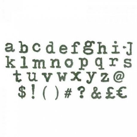 Sizzix Bigz XL Alphabet Die - Typo Lower 661176