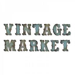 Sizzix Bigz XL Alphabet Die - Vintage Market 658772