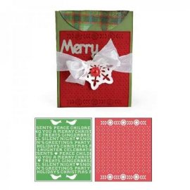 Sizzix Bigz XL Die w/Bonus Textured Impressions - Card, A2 w/Flap and Holiday Cross Stitch & Pattern Set 658187