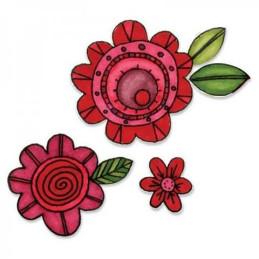 Sizzix Framelits Die Set 10PK w/Stamps – Flowers 659952