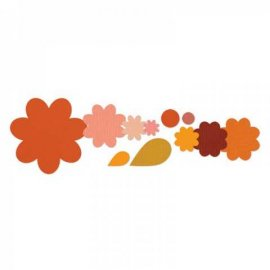 Sizzix Framelits Die Set 11PK - Flower Layers & Leaf 658692