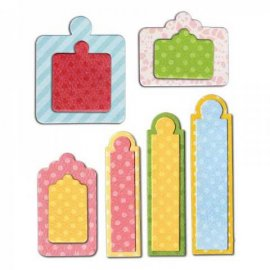 Sizzix Framelits Die Set 12PK - Tags, Sentiments 658612