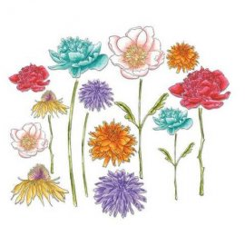 Sizzix Framelits Die Set 18PK - Flower Garden & Mini Bouquet 661613