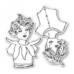 Sizzix Framelits Die Set 2PK w/Stamps - Garden Fairies 658420