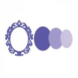 Sizzix Framelits Die Set 3PK - Frame, Oval w/Ornate Edges 657558
