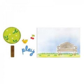 Sizzix Framelits Die Set 5PK w/Textured Impressions – Playing in the Park Set  658539