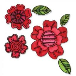 Sizzix Framelits Die Set 8PK w/Stamps - Flowers 659951