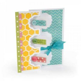 Sizzix Framelits Die Set 9PK - Card, Triple Fancy Frame Flip-its  659176