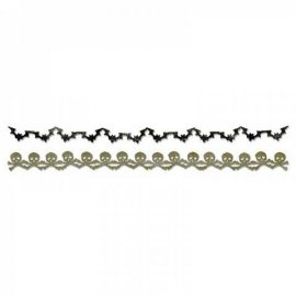 Sizzix Sizzlits Decorative Strip Die - Bats & Crossbones Garland 658710