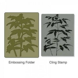 Sizzix Textured Impressions Embossing Folder w/Stamp - Artistic Fern Set 657764