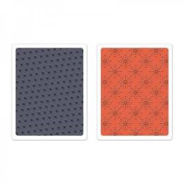 Sizzix Textured Impressions Embossing Folders 2PK - Yuletide Boulevard Set 659999