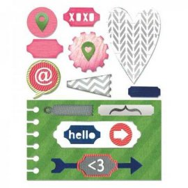 Sizzix Thinlits Die Set 20PK - Notebook Base w/Layering Shapes 660110
