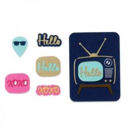 Sizzix Thinlits Die Set 7PK - Retro TV 660012
