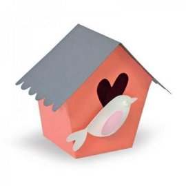 Sizzix Thinlits Plus Die Set 5PK - Box, Birdhouse 660872