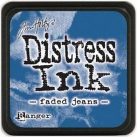 TDP39952 Mini Distress Pad Faded Jeans