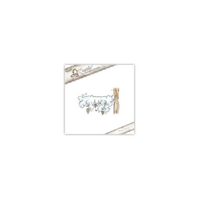 Timbro Magnolia Ramo nevoso WFC-14 Snowy Branch (w)