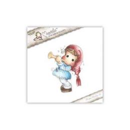 Timbro Magnolia - Tilda suona la tromba -WFC-14 Tilda with Trumpet (w)
