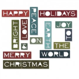 Sizzix Thinlits Die Set 14PK - Holiday Words 661601