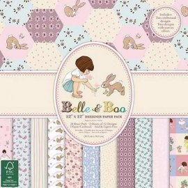 Blocco carte scrap 30x30 Belle and Boo II BBPAP004