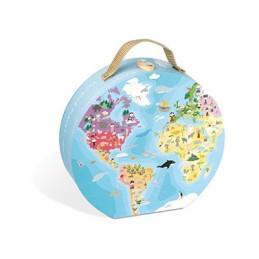 """Puzzle Janod """"Geografia"""" - 02926 -6-9 anni"""