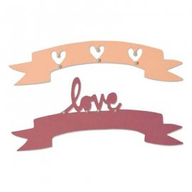 Sizzix Thinlits Die Set 2PK - Love & Wishes -2- 660826