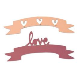 Sizzix Thinlits Die Set 2PK - Love & Wishes -2- 660826