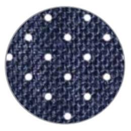 Rotolo in juta, a pois - (h)10cm x 9 mt. - Blu - 035