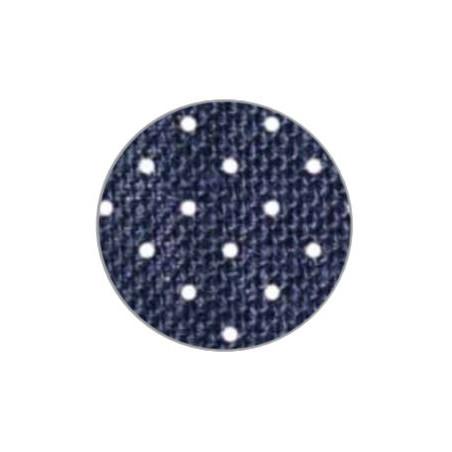Rotolo in juta, a pois Blu, (h)10cm x 9 mt. CRNSJU035
