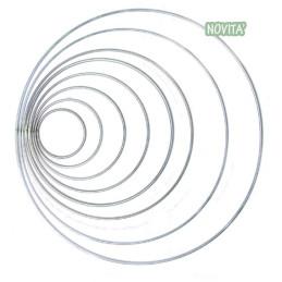 Ghirlanda in ferro, semplice, bianco - Diametro 30 cm 83GHIR30B