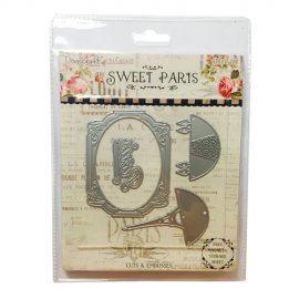 Dovecraft fustella sottile Parigi Sweet Paris Cutting DCDIE001