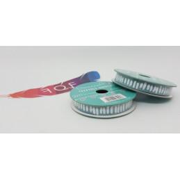 Creative Ribbons, Rocchetto di Nastro 2m, Blu verde con decorazioni bianche