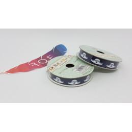 Creative Ribbons, Rocchetto di Nastro 2m, Blu scuro con cappelli pirata bianco