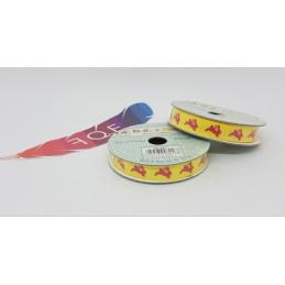 Creative Ribbons, Rocchetto di Nastro 2m, Giallo con conigli rossi