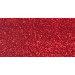 Tessuto Similpelle - 50x70cm - Glitterato rosso - 37861