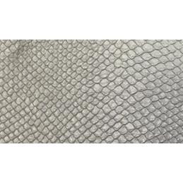 Tessuto Similpelle - 50x70cm - Pitone argento - 960