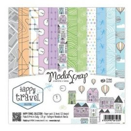 "Carta blocco Scrap - Fantastico viaggio - MSA15BHT - Happy Travel 15x15cm (6""x6"")"