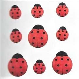 Bottoni decorativi - Ladybugs - 335610 - 4247