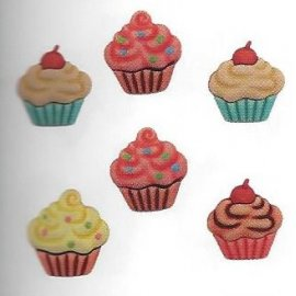 Bottoni decorativi - Cupcakes - 335630 - sd100
