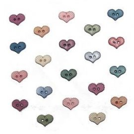 Bottoni decorativi - Folk Art Hearts - 335700 - 1789