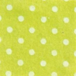 Pannolenci a pois 30x40 cm - 250171 - 10 - Verde Lime (Pois Bianchi)