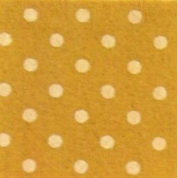 Pannolenci a pois 30x40 cm - 250171 - 48 - Giallo Senape (Pois Gialli)
