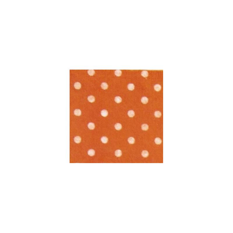 Pannolenci a pois 30x40 cm - 250171 - 7 - Arancione (Pois Bianchi)