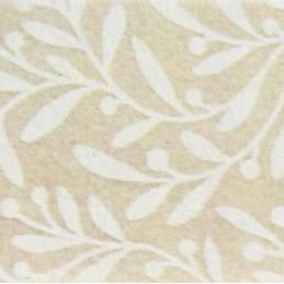Pannolenci decorato foglie 30x40 cm - 250191 - 2 - Nocciola/Bianco Panna