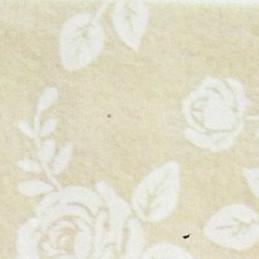 Pannolenci decorato rose 30x40 cm - 250193 - 2 - Nocciola/Bianco Panna