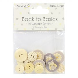 Bottoni di legno Back to Basics DCBTN019