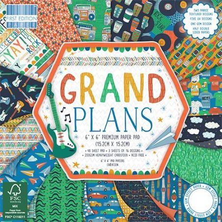 "Carta blocco Scrap Grandi Piani FEPAD160 Grand Plans 15x15cm (6""x6"")"